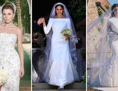 Ludwika Paleta, Meghan Markle y Kim Kardashian vestidas de novia