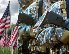Collage guerra Estados Unidos
