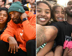 Kobe Bryant con su familia
