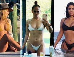 Geraldine Bazán, Jennifer Lopez y Kim Kardashian
