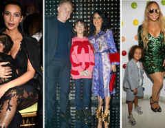 Kim Kardashian, Salma Hayek y Mariah Carey con sus hijos