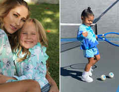 Geraldine Bazán con su hija