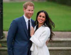 Principe Harry y Meghan Markle en palacio de Kensington