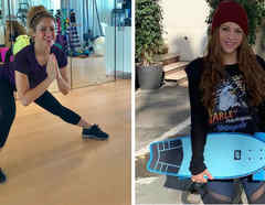 Shakira haciendo ejercicio