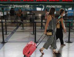 Pasajeras en el aeropuerto de Denver