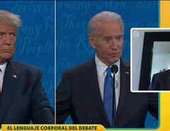 Análisis gestos Trump y Biden