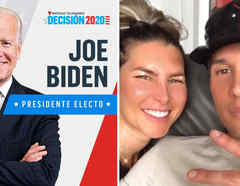Joe Biden, Natasha Araos y Chyno Miranda