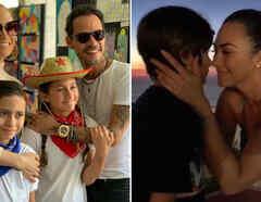 Jennifer Lopez y Aracely Arámbula con sus hijos