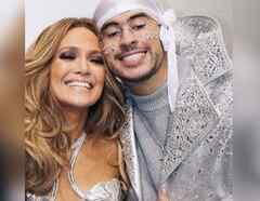 Bad Bunny con Jennifer Lopez en el superbowl