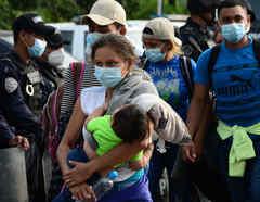 Caravana migrante en Honduras