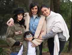 Biby Gaytán y sus hijos