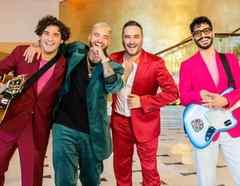 Reik con Maluma, promoviendo su colaboración 'Perfecta'