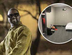 Kanye West, habitación en estadio Mercedes-Benz de Atlanta.