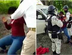 Así golpeó un agente a la migrante que perdió su bebé