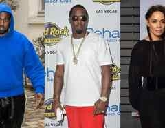 Kanye West, Sean Combs y Lisa Bonet