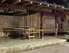 Lugar del tiroteo en Tulum.