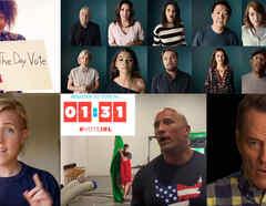 Famosos participan de distintas campañas virales para promover el voto