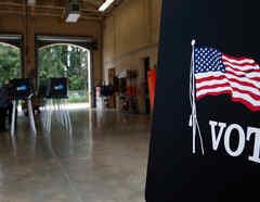 Centro de votación en Florida en una imagen de archivo