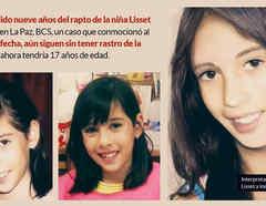 Niña Lisset, secuestrada en México hace 9 años