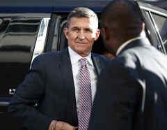 Michael Flynn al llegar a una corte federal en Washington, en una imagen de 2018.