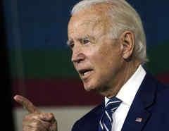 El aspirante presidencial demócrata Joe Biden habla sobre la recuperación económica en un evento de campaña el 21 de julio de 2020 en New Castle, Delaware.