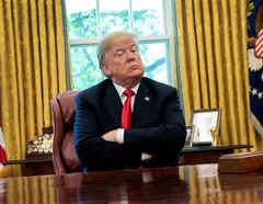 El presidente Donald Trump desde la Oficina Oval de la Casa Blanca.
