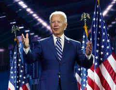 El candidato presidencial Joe Biden en la Convención Nacional Demócrata
