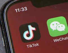 Las aplicaciones TikTok y WeChat.