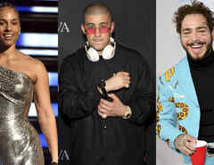 alicia keys, post malone, bad-bunny