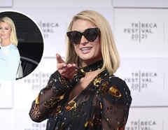 Paris Hilton, baby bump con lentes oscuros.