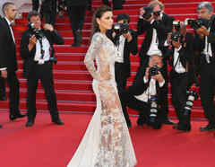 Eva Longoria en la alfombra roja de el 68º Festival de Cannes película inside out