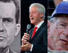 Richard Nixon, Bill Clinton, George W Bush