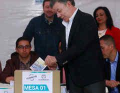 Histórica votación en Colombia