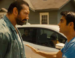 "Kumail Nanjiani and Dave Bautista in ""Stuber"""