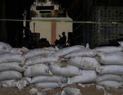 Imagen de las preparaciones para el huracán Lorena.