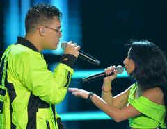 Joselyn Alarcon y Brian Cruz en las batallas de La Voz US 2