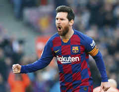 Lionel Messi de Barcelona.