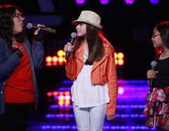 Montserrat, Kemily y Nicole en las batallas de La Voz Kids
