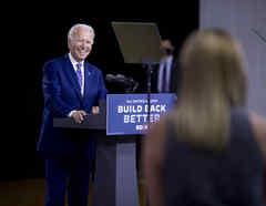 El precandidato presidencial demócrata, Joe Biden.