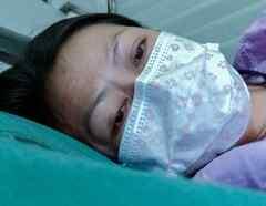 Enferma en cama