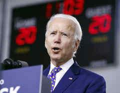 El precandidato demócrata, Joe Biden.
