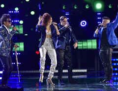 Albin, Brian, Rubi y Jorge en la final de La Voz US 2