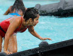 Olimpia sale de la piscina
