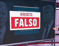 El periodista Julio Vaqueiro de Noticias Telemundo presenta Tverifica, una herramienta creada por Telemundo para confirmar información de cara a las elecciones presidenciales.