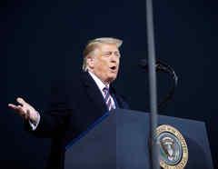 Trump en un mitin en Moon Township, Pennsylvania.