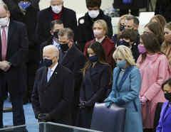 Joe Biden, Jill Biden y Kamala Harris