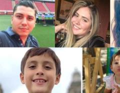 Los cinco miembros de la familia desaparecida.