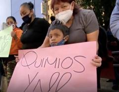 Escasez de medicina contra el cáncer en niños en México.