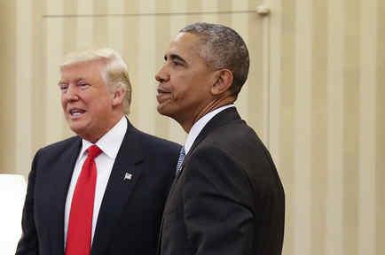 En esta imagen de archivo aparecen Donald Trump y Barack Obama durante una reunión en la Oficina Oval de la Casa Blanca, en Washington.