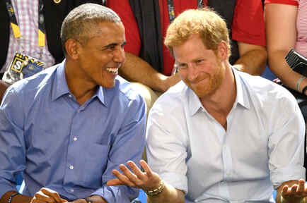 Barack Obama con el príncipe Harry